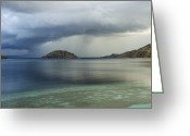 Rain Cloud Greeting Cards - Komodo Island, Indonesia Greeting Card by Georgette Douwma