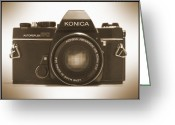 Camera Digital Art Greeting Cards - Konica TC 35mm Camera Greeting Card by Mike McGlothlen