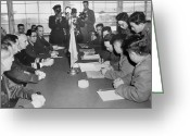 Signing Greeting Cards - Korean War, 1953 Greeting Card by Granger
