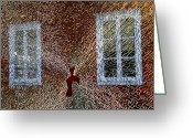 Kg Greeting Cards - Kosta Shattered Greeting Card by KG Thienemann