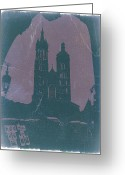 Old City Tower Greeting Cards - Krakow Greeting Card by Irina  March