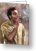 Seinfeld Greeting Cards - Kramer Greeting Card by Ylli Haruni