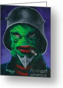 Monster Art Greeting Cards - Kreetcha Greeting Card by Ben Von Strawn