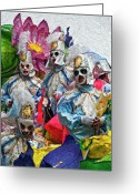 Portraits Photo Greeting Cards - Krewe of Rex  Greeting Card by Kathleen K Parker