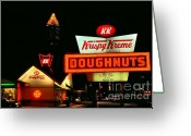 Photographers Ellipse Greeting Cards - Krispy Kreme Doughnuts Atlanta Greeting Card by Corky Willis Atlanta Photography