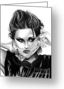 Kristen Stewart Greeting Cards - Kristen Stewart 2 Greeting Card by Crystal Rosene