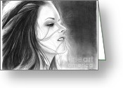 Kristen Stewart Greeting Cards - Kristen Stewart Greeting Card by Crystal Rosene