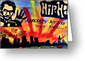 Sit-ins Greeting Cards - Krs One Greeting Card by Tony B Conscious