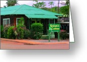Hawaiian Food Greeting Cards - Kualapuu Cookhouse Greeting Card by James Temple