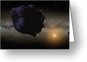 Ices Greeting Cards - Kuiper Belt Objects Greeting Card by Chris Butler