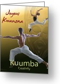 Kwanzaa Greeting Cards - Kwanzaa Kuumba Greeting Card by Shaboo Prints