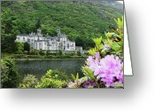 Co Galway Greeting Cards - Kylemore Abbey Co Galway Greeting Card by Martina Fagan