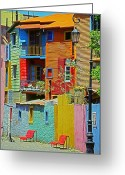 Little Italy Greeting Cards - La Boca - Buenos Aires Greeting Card by Juergen Weiss