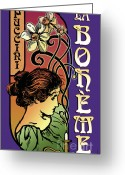Tragedy Greeting Cards - La Boheme Greeting Card by Joe Barsin