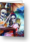 Bar Greeting Cards - La Borracha Greeting Card by Heather Calderon