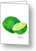 Lime Drawings Greeting Cards - La Chaux Greeting Card by Sharon Blanchard