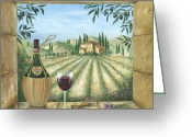 Europe Painting Greeting Cards - La Dolce Vita Greeting Card by Marilyn Dunlap