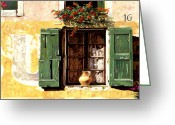 Window Greeting Cards - la finestra di Sue Greeting Card by Guido Borelli
