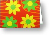 Great Painting Greeting Cards - La Flor de la Vida Greeting Card by Oliver Johnston