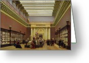 Napoleon Painting Greeting Cards - La Galerie Campana Greeting Card by Charles Giraud