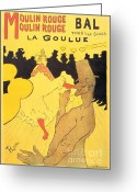 Toulouse-lautrec Greeting Cards - La Goulue Greeting Card by Pg Reproductions