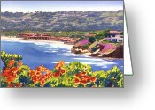 Clubs Greeting Cards - La Jolla Beach and Tennis Club Greeting Card by Mary Helmreich