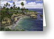 Reinhardt Greeting Cards - La Jolla Cove 2 Greeting Card by Lisa Reinhardt