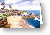 Cave Greeting Cards - La Jolla Cove Greeting Card by Mary Helmreich