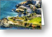 Coastal Landscape Greeting Cards - La Jolla Cove  Greeting Card by Russ Harris