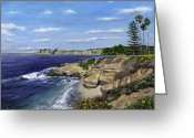Reinhardt Greeting Cards - La Jolla Cove West Greeting Card by Lisa Reinhardt