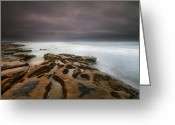 San Diego California Greeting Cards - La Jolla Reef Sunset 5 Greeting Card by Larry Marshall
