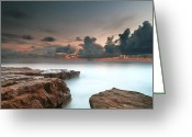 San Diego California Greeting Cards - La Jolla Reef Sunset 6 Greeting Card by Larry Marshall