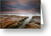 San Diego California Greeting Cards - La Jolla Reef Sunset 8 Greeting Card by Larry Marshall