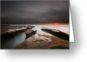 San Diego California Greeting Cards - La Jolla Reef Sunset Greeting Card by Larry Marshall
