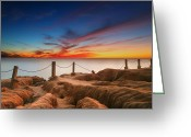 San Diego California Greeting Cards - La Jolla Sunset 3 Greeting Card by Larry Marshall