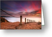 San Diego California Greeting Cards - La Jolla Sunset 4 Greeting Card by Larry Marshall