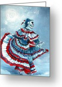 Ghoul Greeting Cards - La Llorona Greeting Card by Heather Calderon