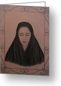 Forgotten Drawings Greeting Cards - La Llorona Greeting Card by Lynet McDonald