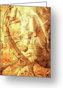 Digital Prints Greeting Cards - La Madonna De La Pieta Greeting Card by Juan Jose Espinoza