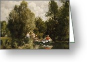 Pierre Renoir Greeting Cards - La Mare aux Fees Greeting Card by Pierre Auguste Renoir