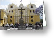 Churches Photo Greeting Cards - La Merced Church II Antigua Greeting Card by Kurt Van Wagner