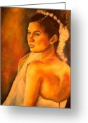Boda Greeting Cards - La Novia  Greeting Card by Michael Josue Serrano
