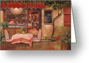 Street Scene Greeting Cards - La Palette Greeting Card by Guido Borelli