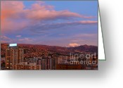 Rosy Greeting Cards - La Paz Twilight Greeting Card by James Brunker