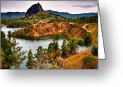 Guatape Greeting Cards - La Piedra Greeting Card by Skip Hunt