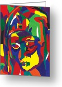 Pieta Painting Greeting Cards - La Pieta Greeting Card by Sabrina McGowens