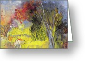 Spring Scenes Painting Greeting Cards - La Provence 26 Greeting Card by Miki De Goodaboom