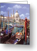 Vacation Greeting Cards - La Salute Greeting Card by Guido Borelli
