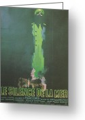 Theater Of The Sea Greeting Cards - La Silence De La Mer Greeting Card by Nomad Art And  Design