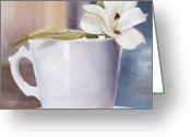 Lilium Greeting Cards - La Tazzona Greeting Card by Danka Weitzen